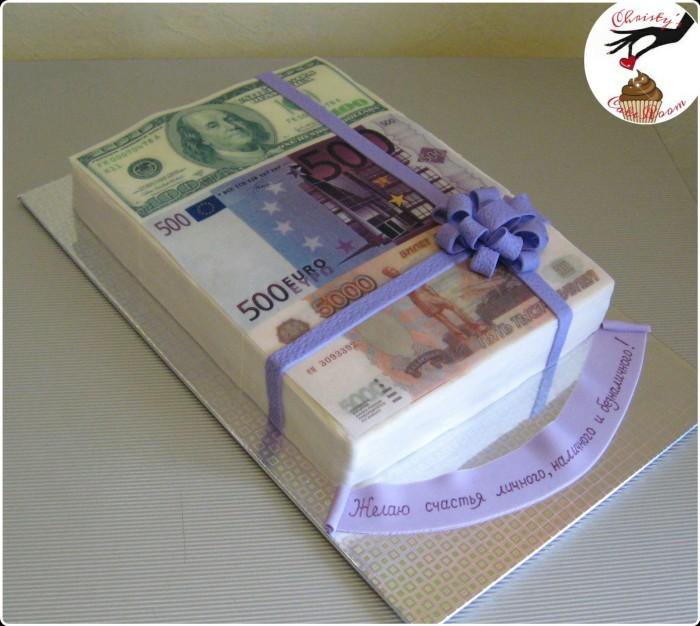 Деньги на торте как сделать